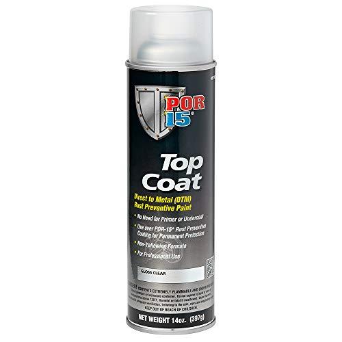 POR-15 45718 Top Coat Gloss Clear Spray Paint...