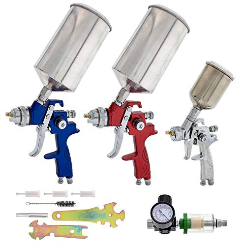 TCP Global Brand HVLP Spray Gun Set - 3...