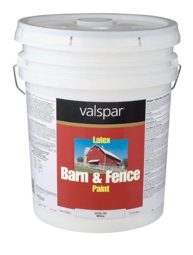 Valspar 3125-70 Barn and Fence Latex Paint,...