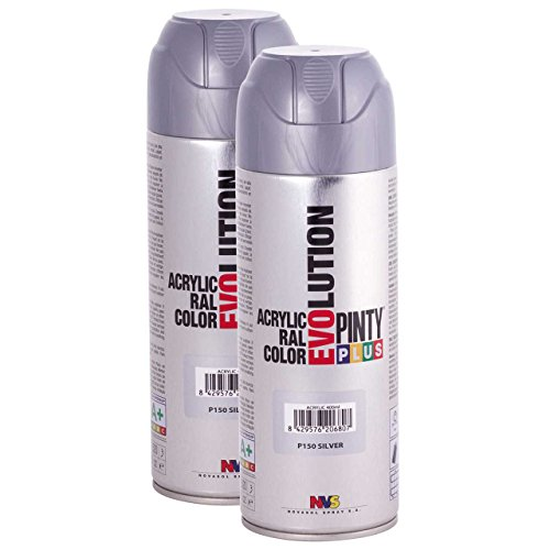 Pintyplus Evolution Spray Paint - Silver -...