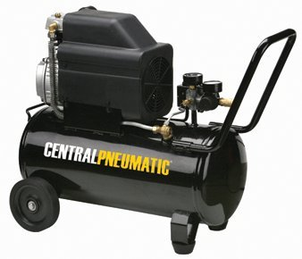 Central Pneumatic 2 HP, 8 Gallon, 125 PSI...