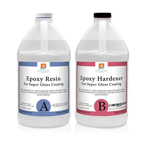 Epoxy Resin 1 Gallon Kit | 1:1 Crystal Clear...