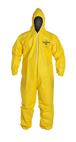 DuPont QC127S Coverall with Hood Disposable...