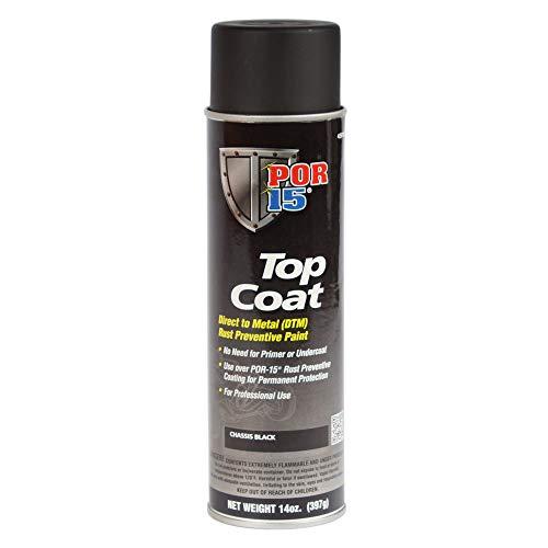 POR-15 45918 Top Coat Chassis Black Spray...