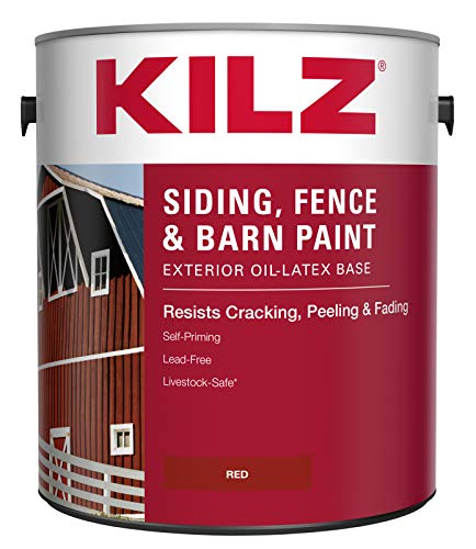 KILZ Exterior Siding, Fence, and Barn Paint,...