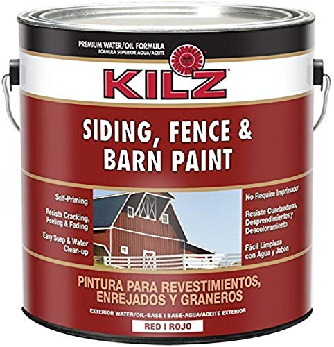 KILZ Exterior Siding, Fence, and Barn Paint,...