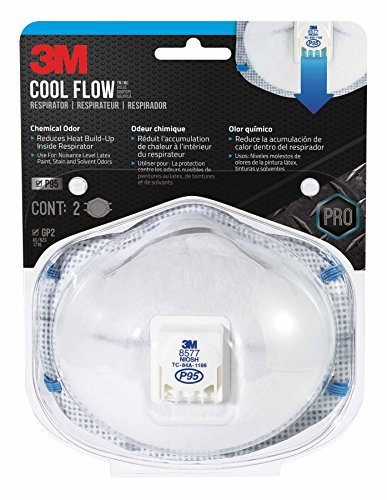 3M Chemical Odor Cool Flow Valved Respirator,...