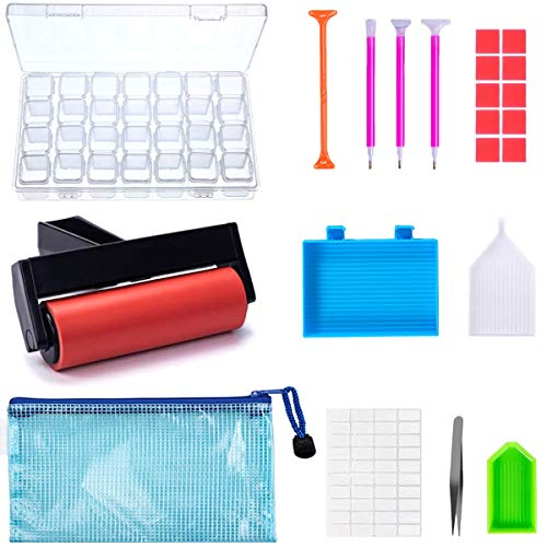 22 Pieces 5D Diamonds Painting Tools and...