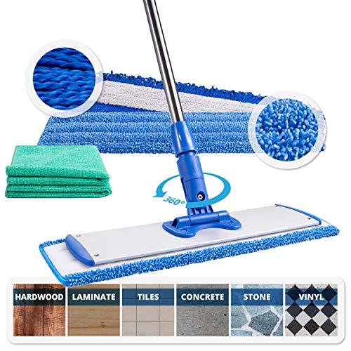 18' Professional Microfiber Mop | Adjustable...