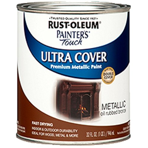Rust-Oleum 254101, Quart, Metallic Oil-Rubbed...