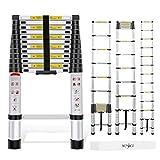 Yesker 12.5ft Telescoping Ladder Aluminum...