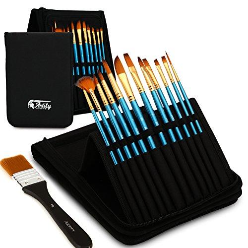 Artify 12 Pcs Paint Brush Set Includes Pop-up...