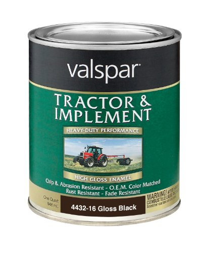 Valspar 4432-16 Gloss Black Tractor and...