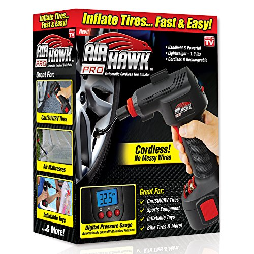 Ontel Air Hawk Pro Automatic Cordless Tire...