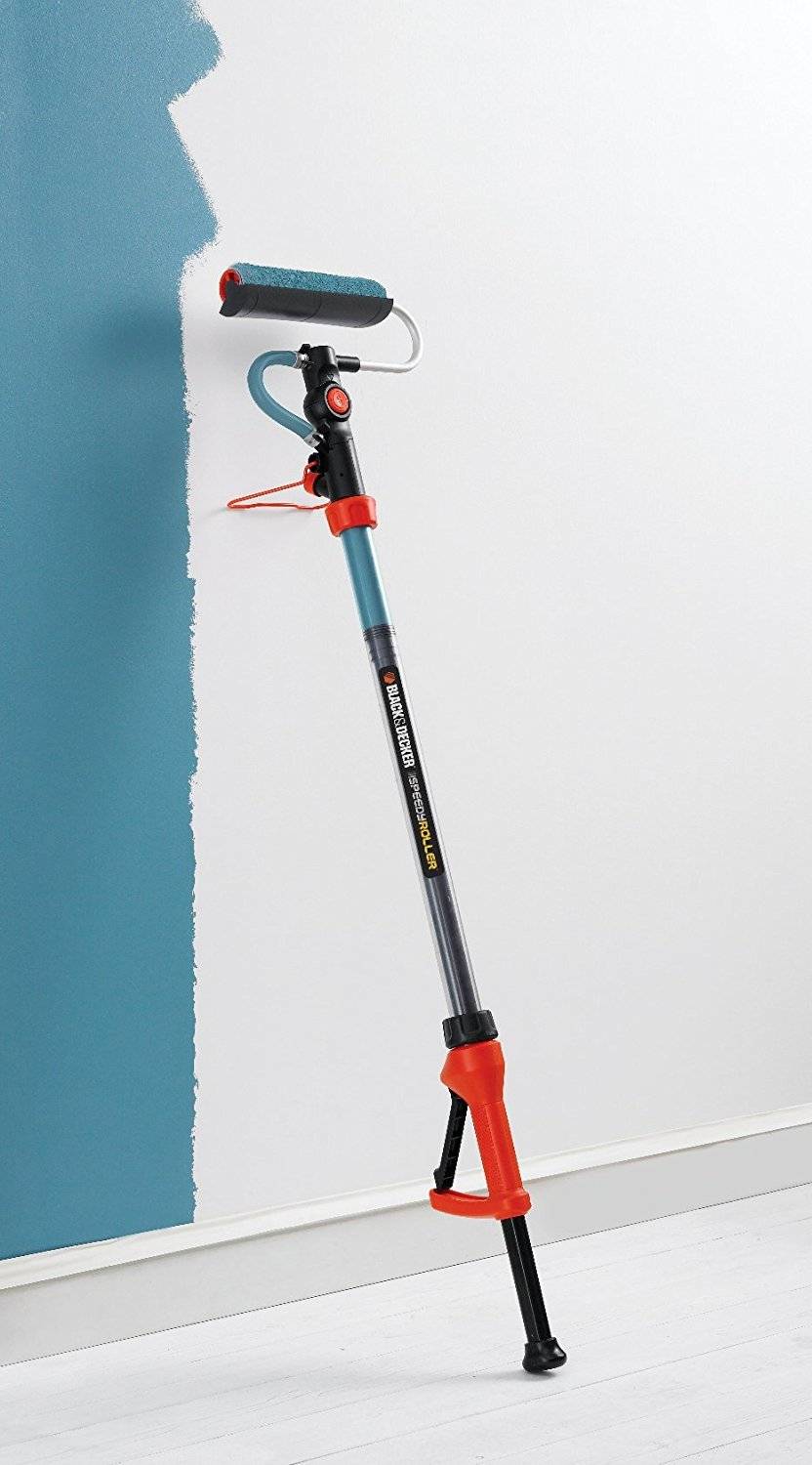 Black and decker roller painting wall blue