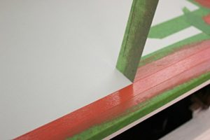 Using frog masking tape on wood