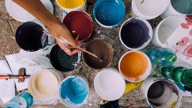 assorted paints