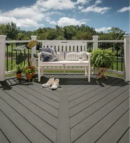 trex decking with shoes